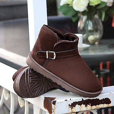 Tacco EU37 7 5 Bootie CN37 Fibbia Fashion 5 Outdoor Snow RTRY Boots US6 Stivali Casual Stivaletti Stivaletti Piatto Donna 5 Per Toe Floccaggio Stivali Scarpe UK4 Round Winter qzB4gvw