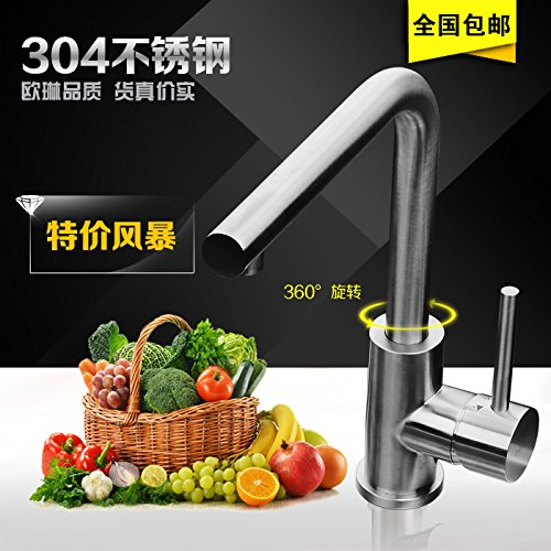 Lead-free faucet brushed stainless steel sink, Super Green, 0-lead