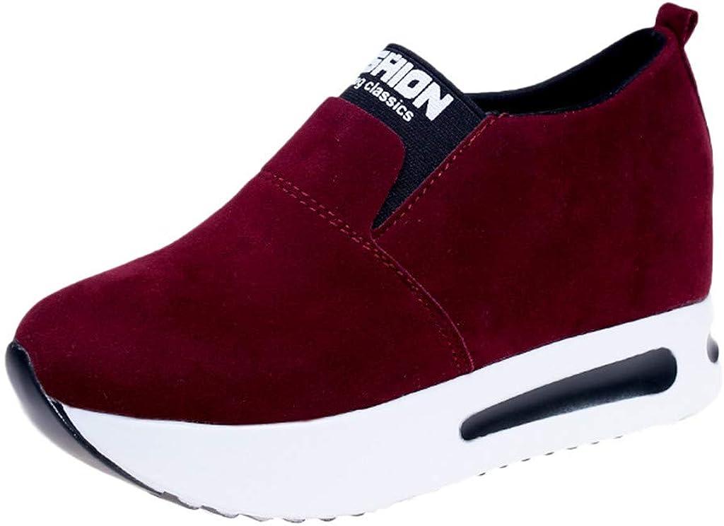 ZOELOVE Zapatillas de Running para Mujer Zapatillas de Correr Deportivas de Primavera y Verano Deporte Gimnasio Fitness Ligeras y cómodos Individuales cómodas Gamuza aumentadas