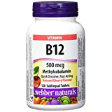 Webber Naturals Vitamin B12 Sublingual Tablet, Natural Cherry, 500mcg