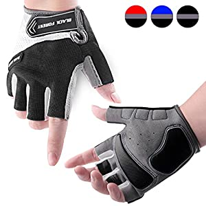 COOLOO Cycling Gloves Biking Bike Gloves for Men & Women, Protective Anti-slip Breathable Shock-absorbing Half Finger Cycling Gloves