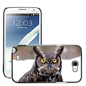 Super Stella Slim PC Hard Case Cover Skin Armor Shell Protection // M00145614 Great Horned Owl Bird Owl Northern // Samsung Galaxy Note 2 II N7100