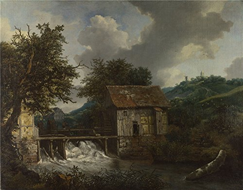 Oil Painting 'Jacob Van Ruisdael Two Watermills And An Open Sluice At Singraven ' Printing On Polyster Canvas , 12 X 15 Inch / 30 X 39 Cm ,the Best Laundry Room Decor And Home Artwork And Gifts Is This (Open Enclosure Telephone)