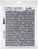 Tim Holtz - Stampers Anon CLING RBBR STAMP SET TINY TEXT, us:one size