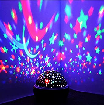 Proyector De Luz Nocturna Spin Estrellado Cielo Estrella Maestro ...
