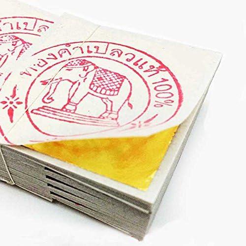 純金箔 24K タイ産 Gold リーフ 金箔 シート 500枚セット 4cm x 4cm タイ 仏事 慶事 工芸用 ホビー [