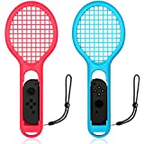 Rottay Tennis Racket for Nintendo Switch Joy-con Controller Twin Pack Tennis Racket for Mario Tennis Aces Game Accessories