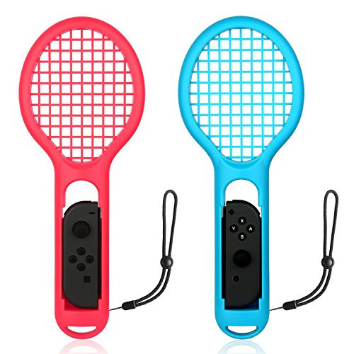 Rottay Tennis Racket Nintendo Switch Joy-con Controller Twin Pack Tennis Racket Mario Tennis Aces Game Accessories