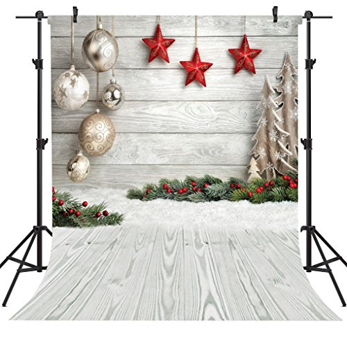 OUYIDA Christmas Theme 6X9FT Seamless CP Pictorial Cloth Photography Background Computer-Printed Vinyl Backdrop SD768D