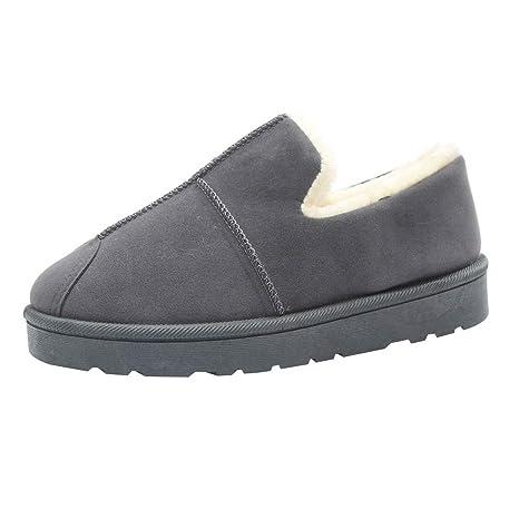 Zapatos Mujer OtoñO Invierno 2018 ZARLLE Vintage Moda Unisexo Mujer Hombre Otoño Invierno Zapatillas De Estar