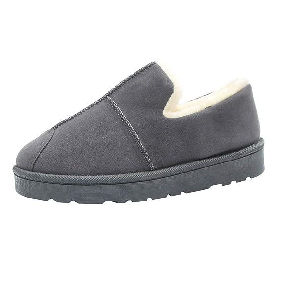 Zapatos Mujer OtoñO Invierno 2018 ZARLLE Vintage Moda Unisexo Mujer Hombre Otoño Invierno Zapatillas De Estar Por Casa Pareja Interior Skidproof Algodón ...