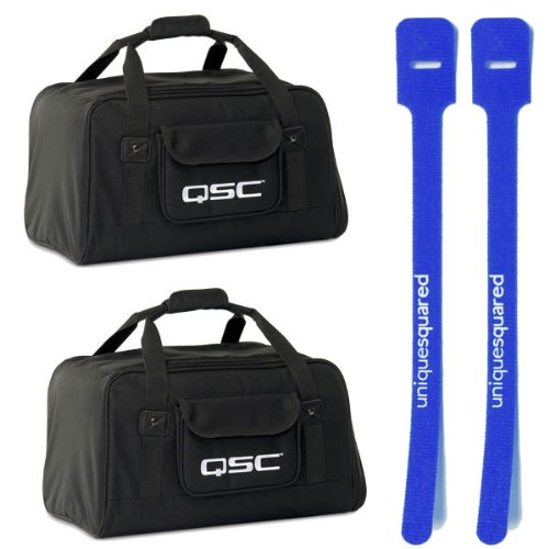 QSC K12 Carry Travel Tote Bag Pair for K-12 Active Speaker w/ Cable Ties by QSC