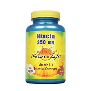 Nature's Life Niacin Tablets, 250 Mg, 250 Count