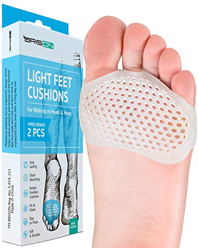 Metatarsal Pads Ball of Foot Cushions - Soft Gel Ball of Foot Pad - Mortons Neuroma Callus Metatarsal Foot Pain Relief Bunion Forefoot Cushioning Relief Women Men