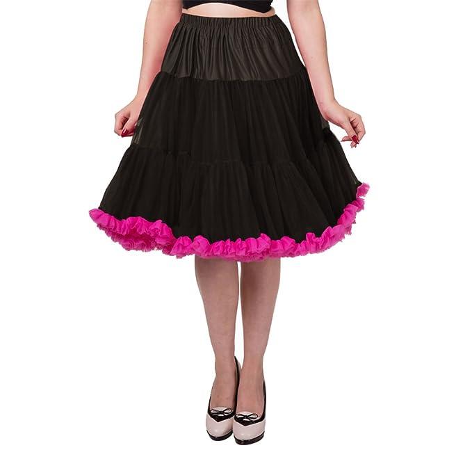 Dancing Days - Falda - Enaguas - para Mujer Rose - Black-Hot Pink ...