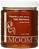 Facial Hair Removal Supplement - Moom Organic Hair Removal with Tea Tree Refill Jar, 12 Ounce