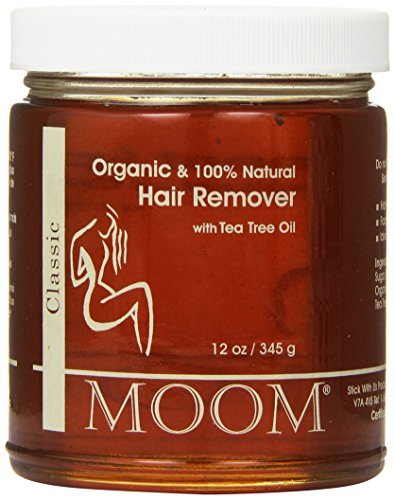 Wax Body Sugar (Moom Organic Hair Removal with Tea Tree Refill Jar, 12 Ounce)