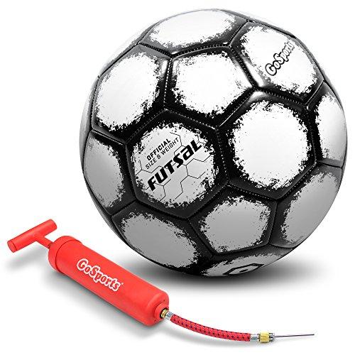 GoSports Futsal Ball Premium Pump - Regulation Size Weight (Choose Single Ball Six Pack Mesh Bag