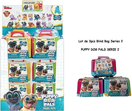 Disney Junior Puppy Dog Pals SERIES 3 Blind Box Set Of 2 Travel Pets Carriers