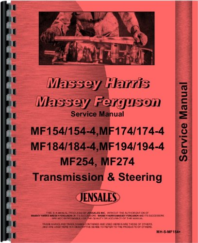 Massey Ferguson 194-4 Tractor Transmission and Steering Only Service Manual by Jensales