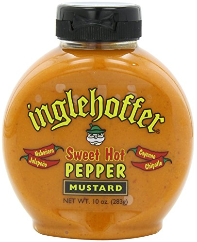 Inglehoffer Mustard, Sweet Hot Pepper, 10 Ounce (Pack of 6) Hot Pepper Mustard