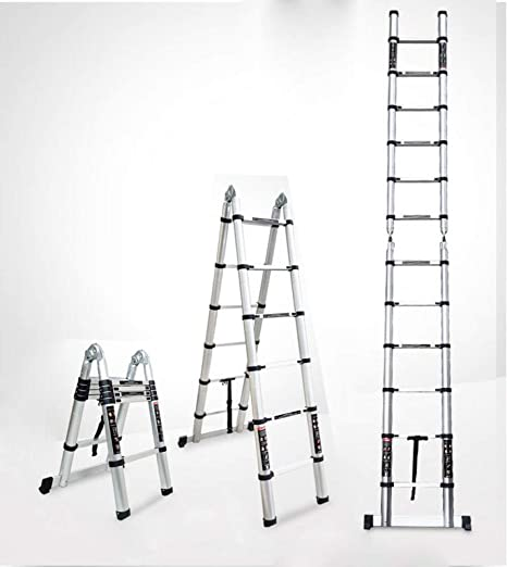 HUI Escalera Plegable Aluminio,Escalera Telescópica,Escalera Plegable,Antideslizantes, 150kg,3.2m-Multi-functionLadder: Amazon.es: Hogar