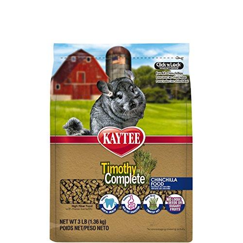 Kaytee Timothy Hay Complete Chinchilla Food, 3-lb bag (Chinchilla Kaytee Food)