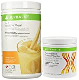 Herbalife Formula 1 Shake Mix-Orange Cream (750g) + Formula 2 Personalized Protein Powder (PPP)-360g Unflavoured.