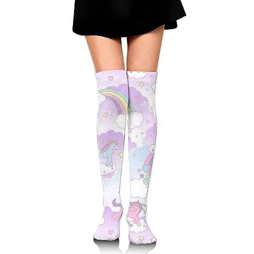 f6260f84671 Unicorn Animal Knee High Compression Socks Sexy Smooth Running Youth Hiking  Socks