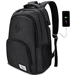 College Backpack,Laptop Backpack with USB Charging Port,School Bookbag Computer Bag 35L for Women & Men Fits 15.6 Inch Laptop Notebook by AUGUR