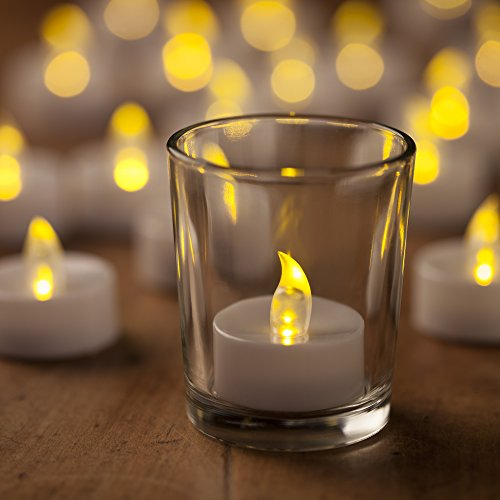 mars battery operated candles 24 yellow flickering led candles tea lights free 100 fake rose. Black Bedroom Furniture Sets. Home Design Ideas