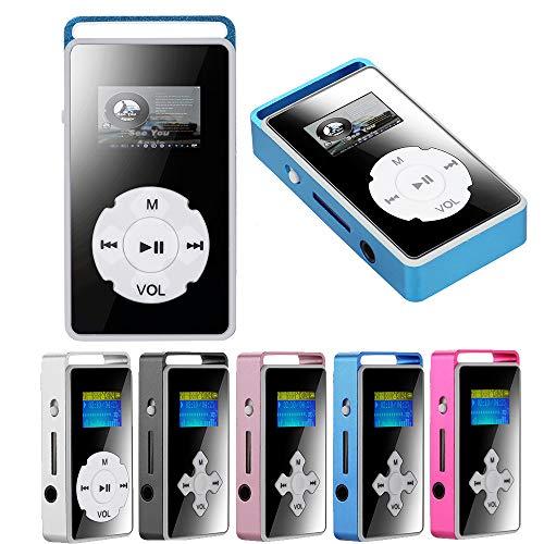 Aobiny USB Digital MP3 Player, LCD Screen Support 32GB Micro SD TF Card Mirror Music Media (Black)