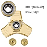 Fidget Spinner Toy Stress Reducer, DIKE Hand Spinner ADHD Fidget Toys, Relieves Anxiety, Boredom, Autism, ADHD, ADD, EDC Focus Toy for Kids & Adult (Gold)