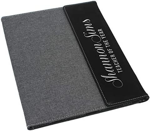 Custom Personalized Canvas Portfolio Monogrammed