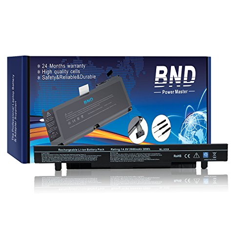 Bnd Laptop Battery  Samsung Cells  For Asus X550a A450 P550 F550 K550 R510 X450 X550 A450c A550c X550a X550b X550d  Fits P N A41 X550 A41 X550a   24 Months Warranty  4 Cell 2600Mah