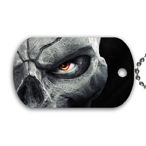 Zombie Skull Halloween Dog Tag with 30