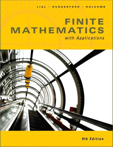Finite Math with Applications (9th Edition)