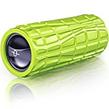 Vibrating Foam Massage Roller - Rechargeable Electric Exercise and Fitness Roller for Core Muscle & Deep Tissues Sports Therapy - Trigger Point Rumble Massager Releases Back Tension, Stiffness & Pain