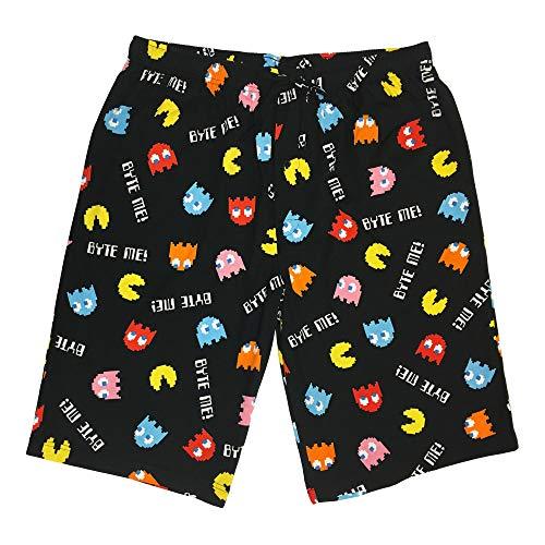 Pac-Man Men's Pajama Sleep Shorts - 100% Soft Cotton, Byte ME Print]()