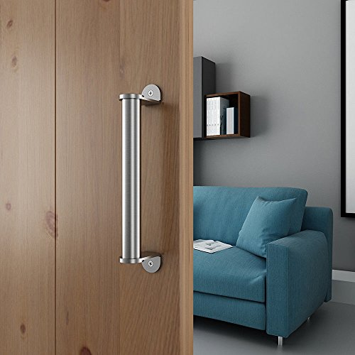 10in Stainless Steel Side Mount Pipe Handle Pull for Sliding Barn Door by JUBEST (Image #1)