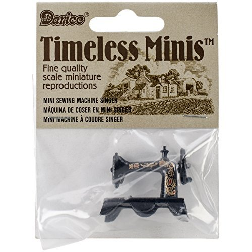 Amazon.com: Miniatures- Black Singer Sewing Machine - 1.25 inches by Timeless Minis: Toys & Games