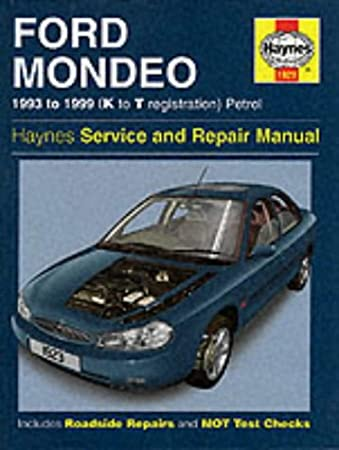 ford mondeo service and repair manual 1993 to 1999 k to t rh amazon co uk Pontiac Shop Manual 2007 Workshop Manuals Oilfield Well Testing