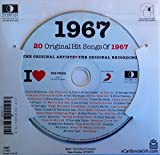 1967 Birthday Gift - I Love 1967 Compilation Music Hits CD - 20 Original Songs - 1967 Year Greeting Card