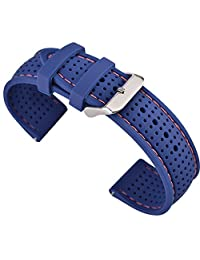 22mm Silicone Quick Release SmartWatch Bands for Moto 360 2 46mm / Samsung Gear S3 / LG G Watch W100,R W110,Urbane W150 / Pebble Time & Time Steel (22MM-silicone-01)