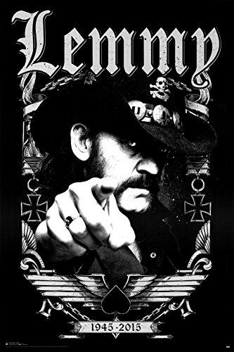Motorhead- Lemmy 1945-2015 Poster 24 x 36in