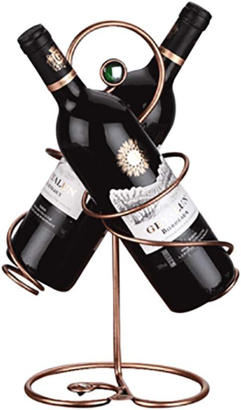 LNTE botellero Estante, decoración Creativa, pouvant Accueillir 2 Botellas de Piedras Preciosas Decoradas salón Europeo Puerta Botella: Amazon.es: Hogar