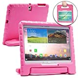 Samsung Galaxy Tab S 10.5 case for kids [SHOCK PROOF KIDS TAB 10.5 CASE] COOPER DYNAMO Kidproof Child Tab S 10.5 inch Cover for Girls, School | Kid Friendly Handle & Stand, Screen Protector (Pink)