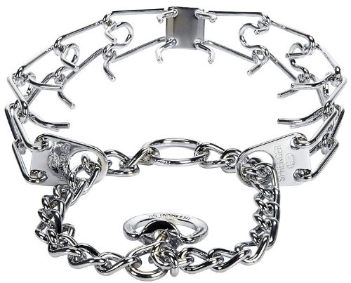Herm Sprenger Stainless Steel Prong Training Collar with Swivel 23'' - Large 3.2mm