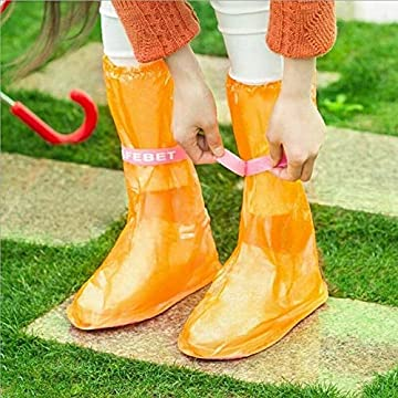 Outdoor Raincoat Set Cycle Rain Boots Overshoes Rainboots,Travel Essentials overshoes rain Quality Waterproof Rain - orange