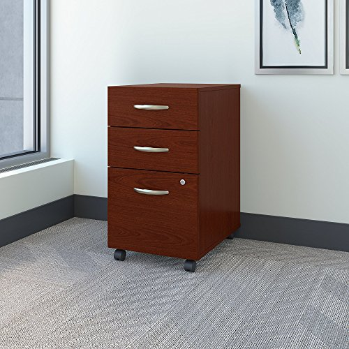 Bush Business Furniture Series C 3 Drawer Mobile Pedestal in Mahogany ()
